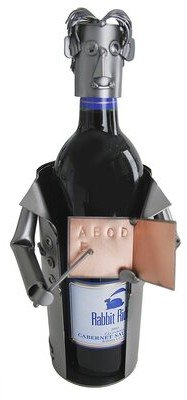 H & K SCULPTURES Teacher Male 1 Bottle Tabletop Wine Rack H & K SCULPTURES