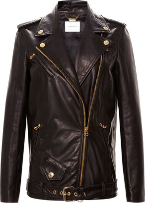 Balmain Pierre Classic Leather Biker Jacket