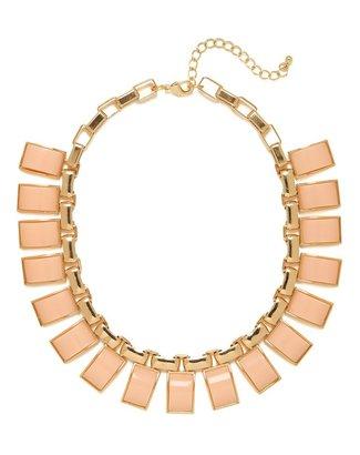 BaubleBar Peach Arch Gem Collar