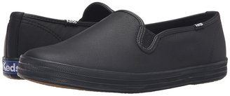 Keds - Champion-Leather Slip-On Women's Flat Shoes $55 thestylecure.com