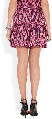See by Chloe Printed silk-jacquard mini skirt