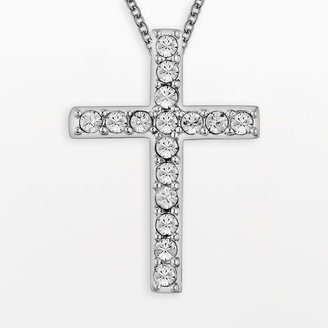 Silver Cross Diamonluxe DiamonLuxe Crystal Sterling Pendant - Made with Swarovski Crystals