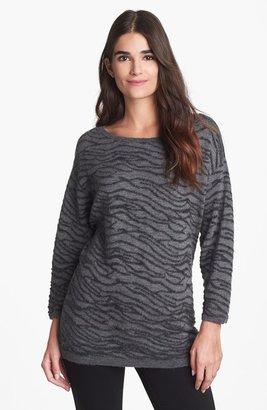 Nordstrom Zebra Stripe Cashmere Pullover