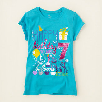 Children's Place Seventh birthday graphic tee