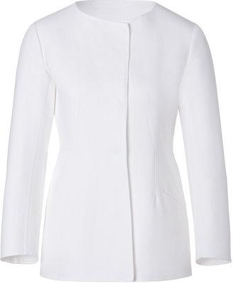 Jil Sander White Structured Cotton Jacket