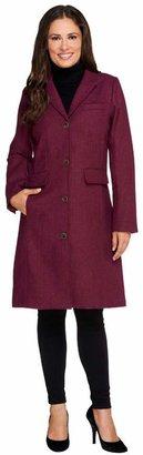 Isaac Mizrahi Live! Herringbone Chesterfield Coat