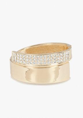 Bebe Metal & Crystal Geometric Bracelet