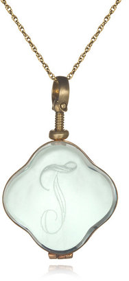 Soixante Neuf Engraved Glass Locket