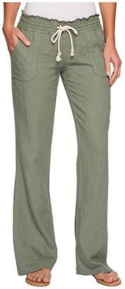 Roxy Ocean Side Pant (Olive) Women's Casual Pants