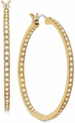 Swarovski Earring, 22k Gold-Plated Crystal Somerset Hoop Earrings