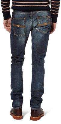 Nudie Jeans Grim Tim Slim-Fit Organic Denim Jeans