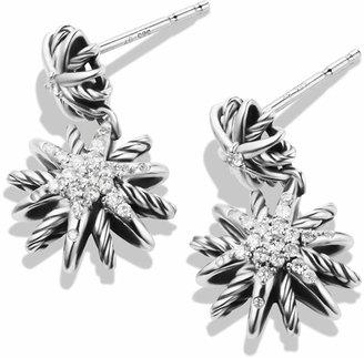 David Yurman Starburst Double-Drop Earrings with Diamonds