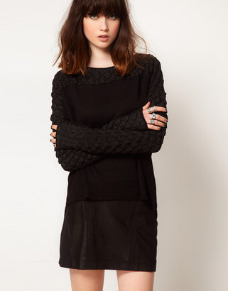 Eleven Paris Sweater With Textured Lurex