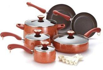 Paula Deen 15-pc. Nonstick Signature Porcelain Cookware Set, Coral
