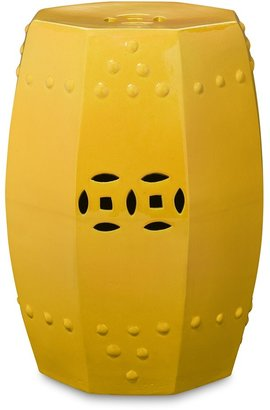 Williams-Sonoma Hexagonal Geometric Garden Seat, Yellow