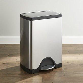 Crate & Barrel simplehuman ® 30-Liter/8-Gallon Stainless Steel Rectangular Step Can