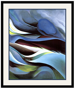 O'Keeffe's Amanti Art From the Lake No. 1 Framed Art Print by Georgia O'Keeffe