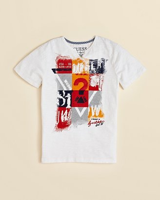 GUESS Boys' Painted Logo Tee - Sizes S-XL