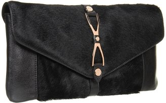 Ted Baker Maddy Metal Wish Bone Clasp Clutch (Black) - Bags and Luggage