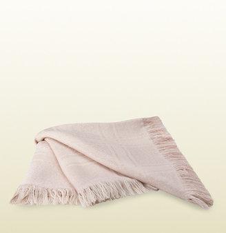Gucci pink and gold GG pattern shawl