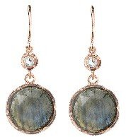 Irene Neuwirth Rose Cut Labradorite Earrings with Diamonds - Rose Gold