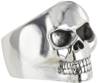 King Baby Studio - Small Classic Skull Ring Size Ring $380 thestylecure.com