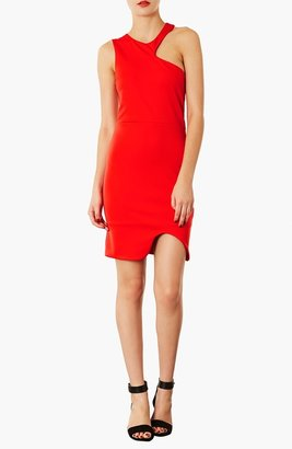 Topshop Asymmetrical Body-Con Dress