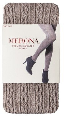 Merona Women's Cable Sweater Tights - Brown Heather