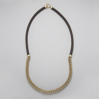 Jones New York Rope and Chain Necklace