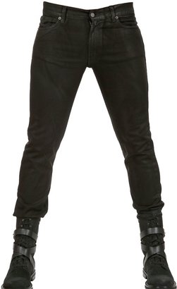 16,5cm Waxed Denim Stretch Skinny Jeans $269 thestylecure.com