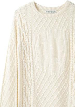 Tsumori Chisato alien intarsia knit