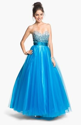 Sean Collection Embellished Tulle Ball Gown (Online Only)
