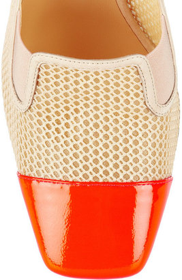 Reed Krakoff Atlas mesh and patent-leather pumps