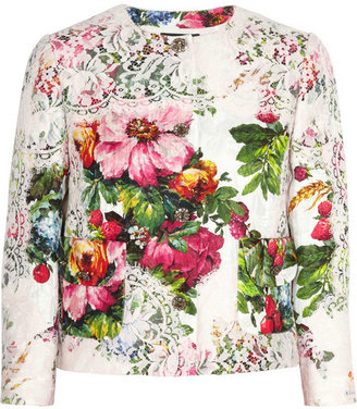 Dolce & Gabbana Lace and floral-brocade jacket