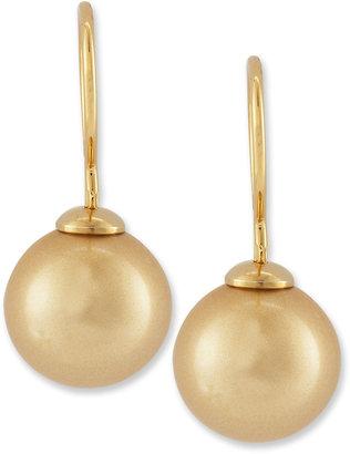 Majorica Pearl-Drop Earrings, Champagne