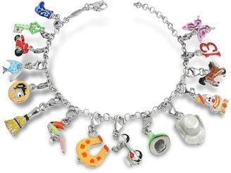 Nuovegioie Tedora Sterling Silver Multicolor Charm Bracelet