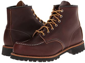 Red Wing Shoes 6 Moc Toe Lug (Briar Oil Slick) Men's Lace-up Boots