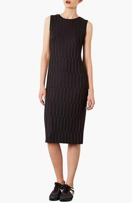 Topshop Textured Midi Dress