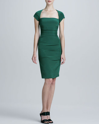 Nicole Miller Square-Neck Cocktail Dress