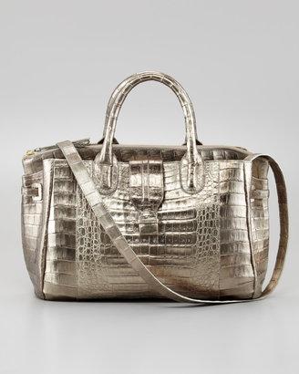 Nancy Gonzalez Cristina Crocodile Shoulder Tote Bag, Bronze