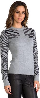 Torn By Ronny Kobo Shauna Zebra Knits Sweater