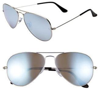 Ray-Ban Standard Icons 58mm Mirrored Polarized Aviator Sunglasses