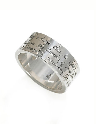 Jeanine Payer Anthony Silver Band Ring