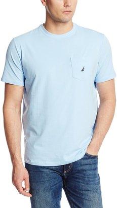 Nautica Men's Solid Crew Neck Short Sleeve Pocket T-Shirt