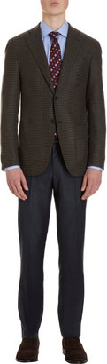 Barneys New York Check Blazer