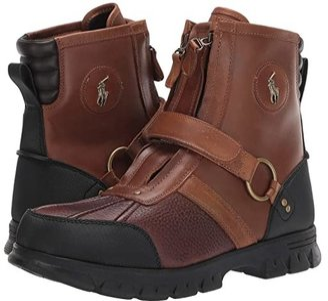 Polo Ralph Lauren Conquest Hi III (Briarwood/Tan Pitstop/Leather) Men's Zip Boots