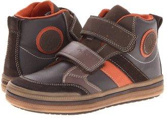 Geox Kids - Jr Elvis 17 (Big Kid) (Brown/Orange) - Footwear