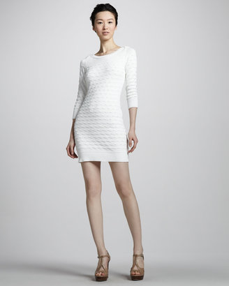 Milly Sweep-Stitch Knit Dress