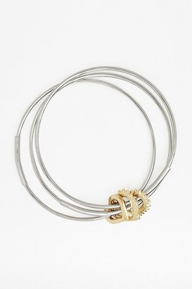 French Connection Spiked Heart Bangles