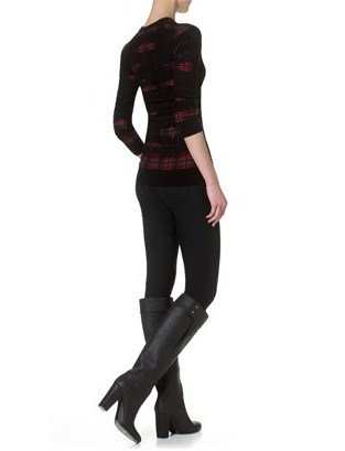 Edun Fuchsia Wool Plaid Jumper